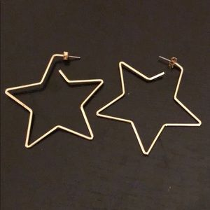 Jewelry - Star hoop earrings